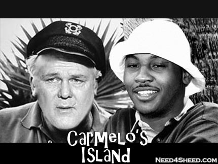 Karl as the Skipper on Carmelo's island, need4sheed.com